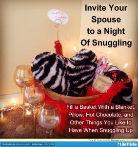 snuggle date with your spouse