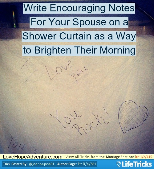 shower notes