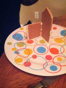 gingerbread house start