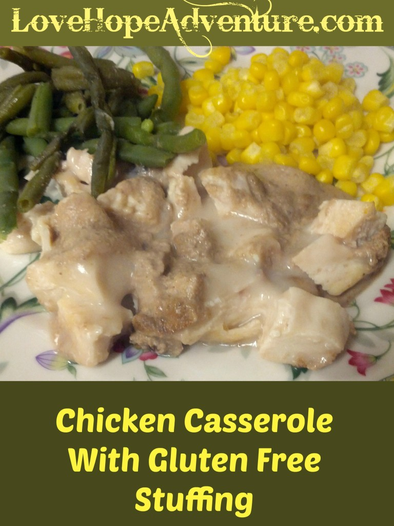 chicken casserole with a gluten free stuffing