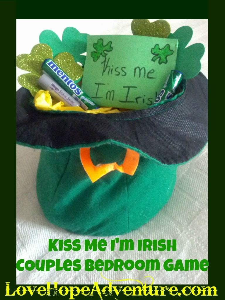 kiss me I'm irish bedroom game picture