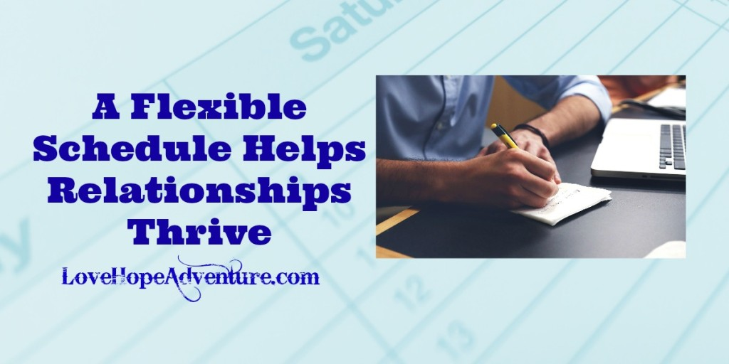 A Flexible Schedule Helps Relationships Survive