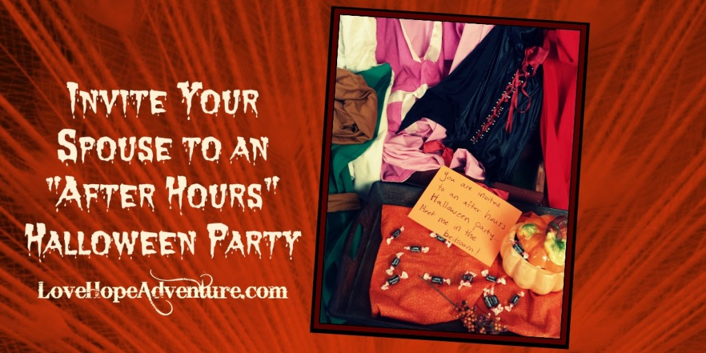 Invite your spouse to an after hours halloween party