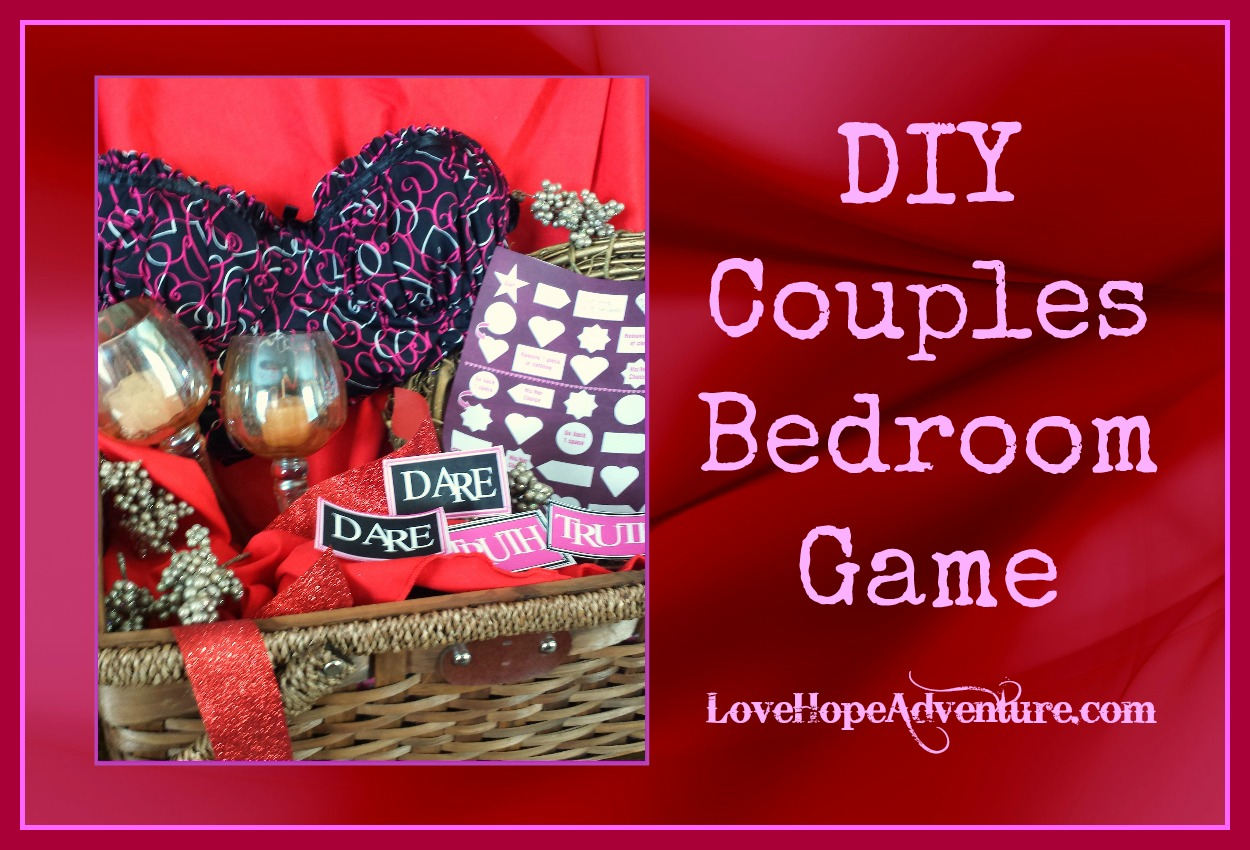 diy couples bedroom game with printables - love hope adventure