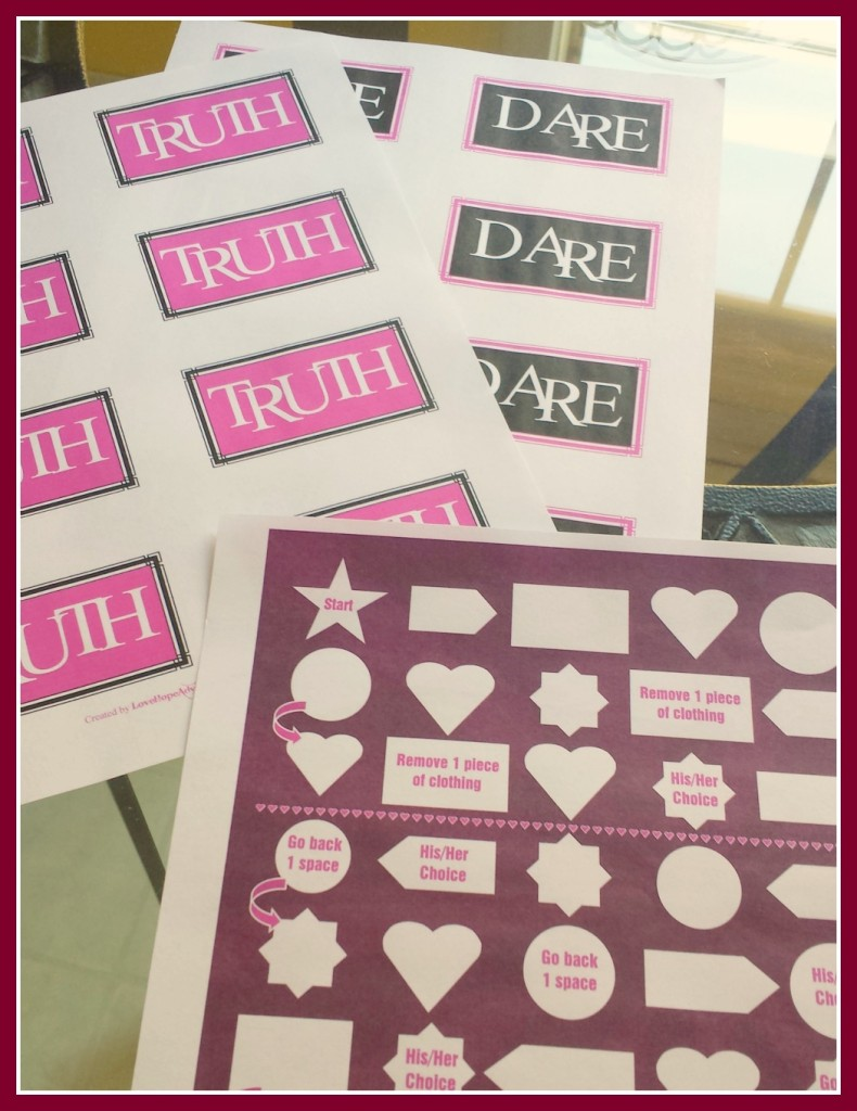 truth or dare game and boardgame free printable