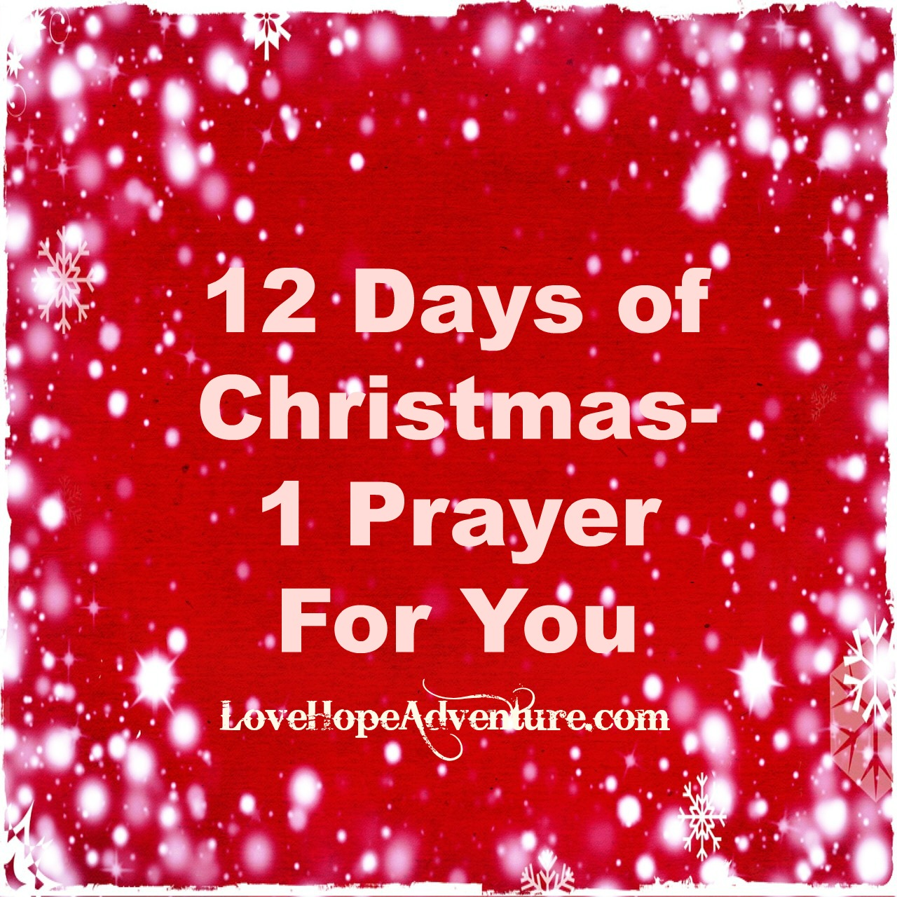 12 Days of Christmas 1 Prayer for You