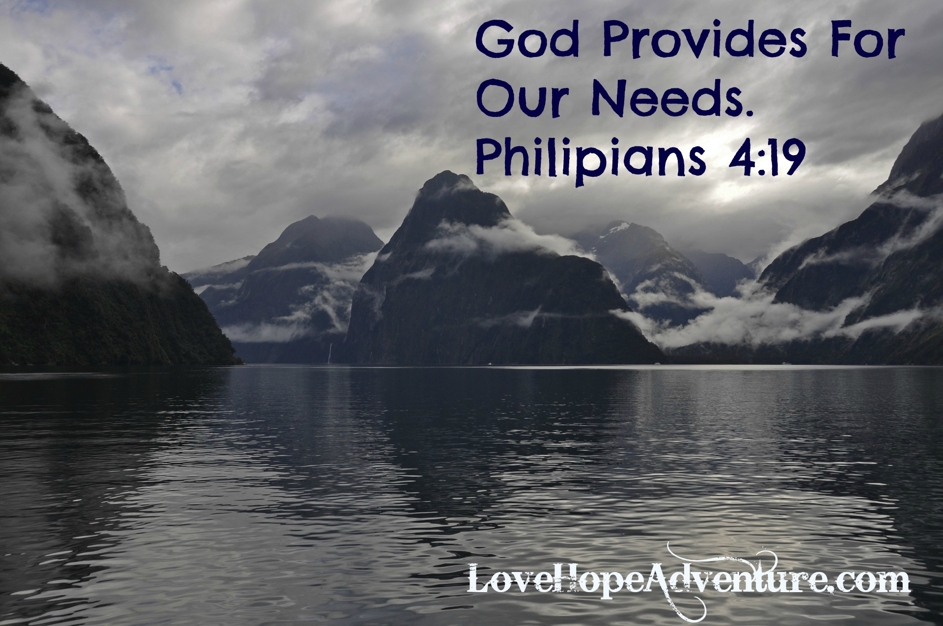 God Provides For Our Needs