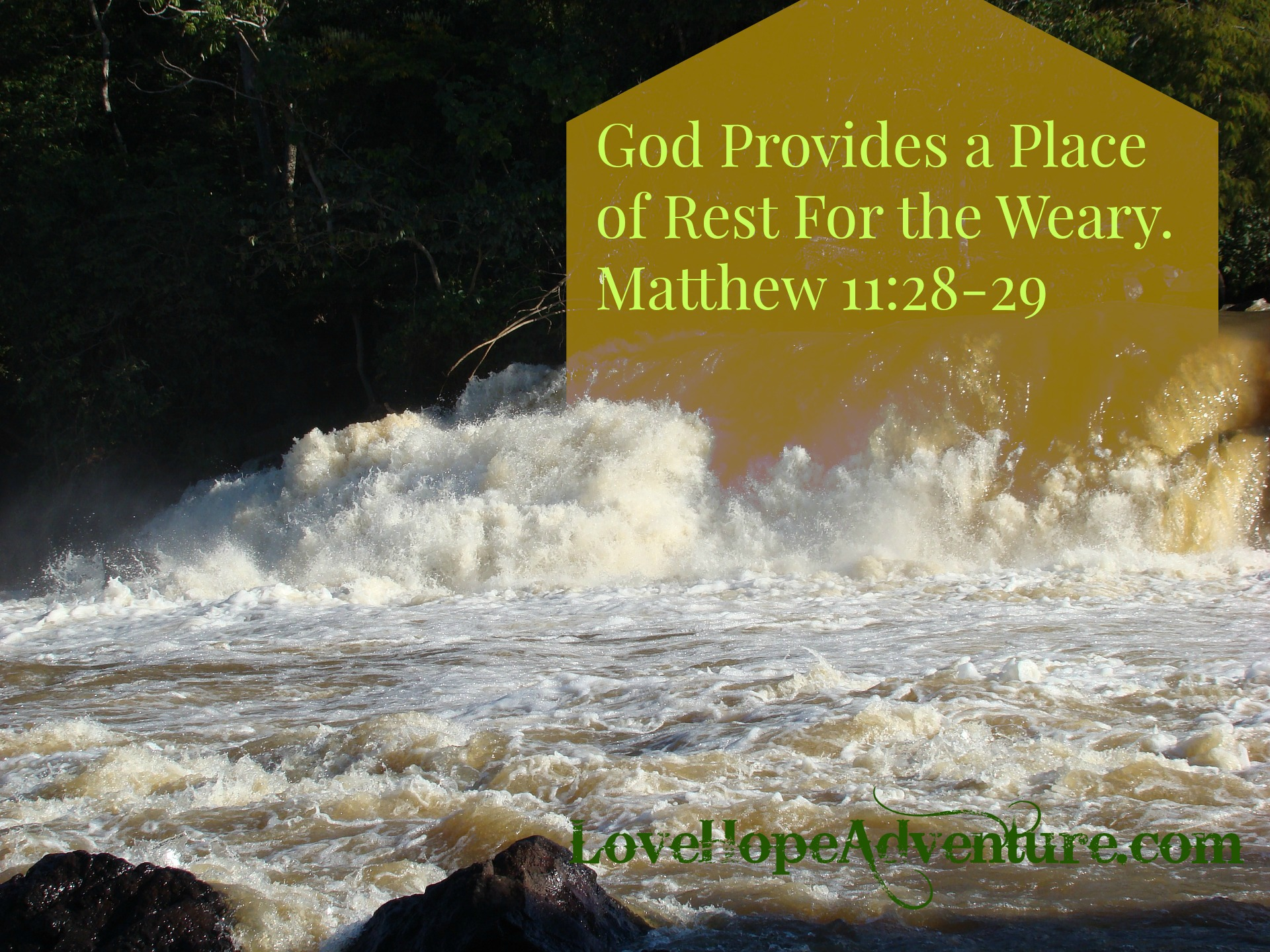 God Provides a Place of Rest For the Weary