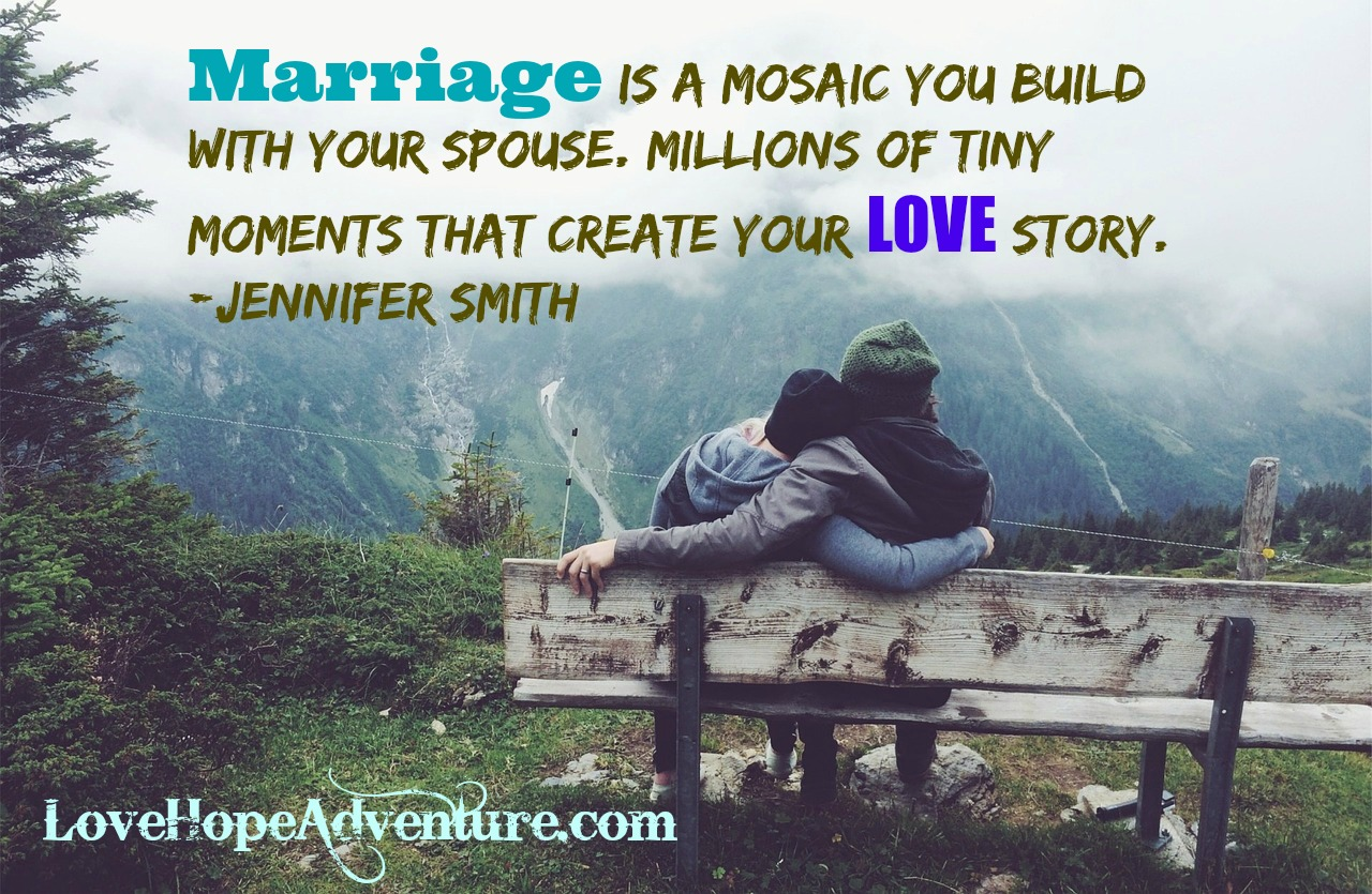 Marriage is a Mosaic You Make With Your Spouse