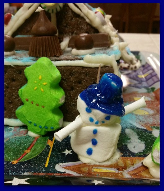 Snowman at the Gingerbread House