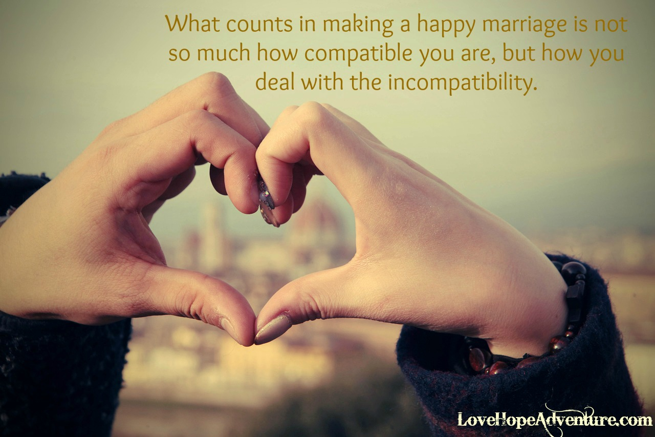 What Counts in Marriage is How You Deal With the Incompatibility