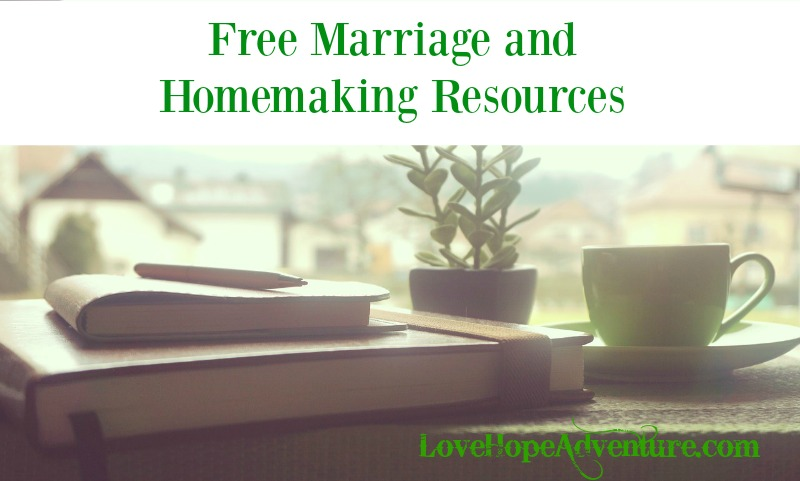 free marriage and homemaking resources