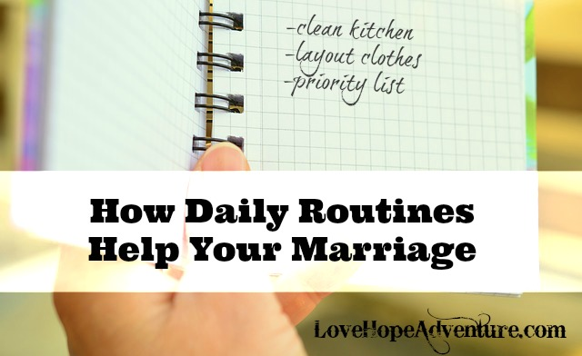 how routines help your marriage
