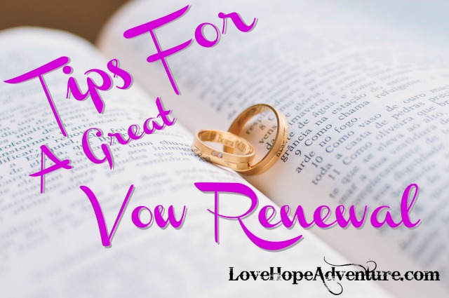 Tips For a Great Vow Renewal