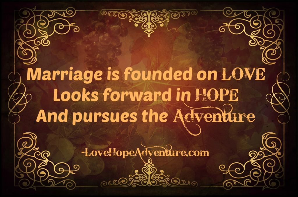 marriage is founded on love