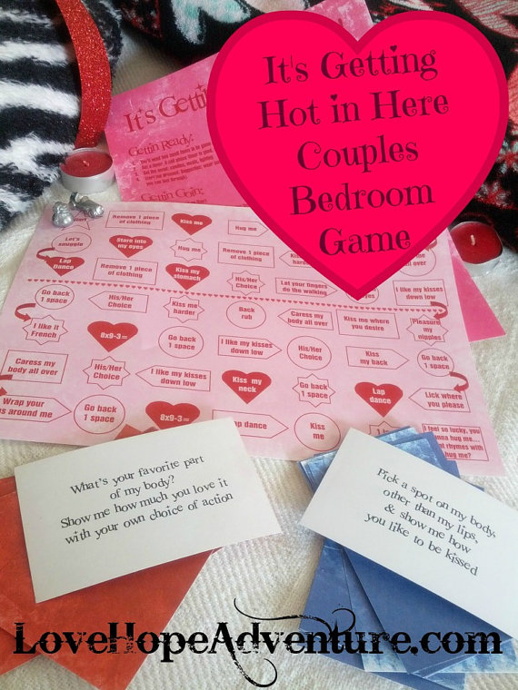 It's Getting Hot in Here Couples Bedroom Game