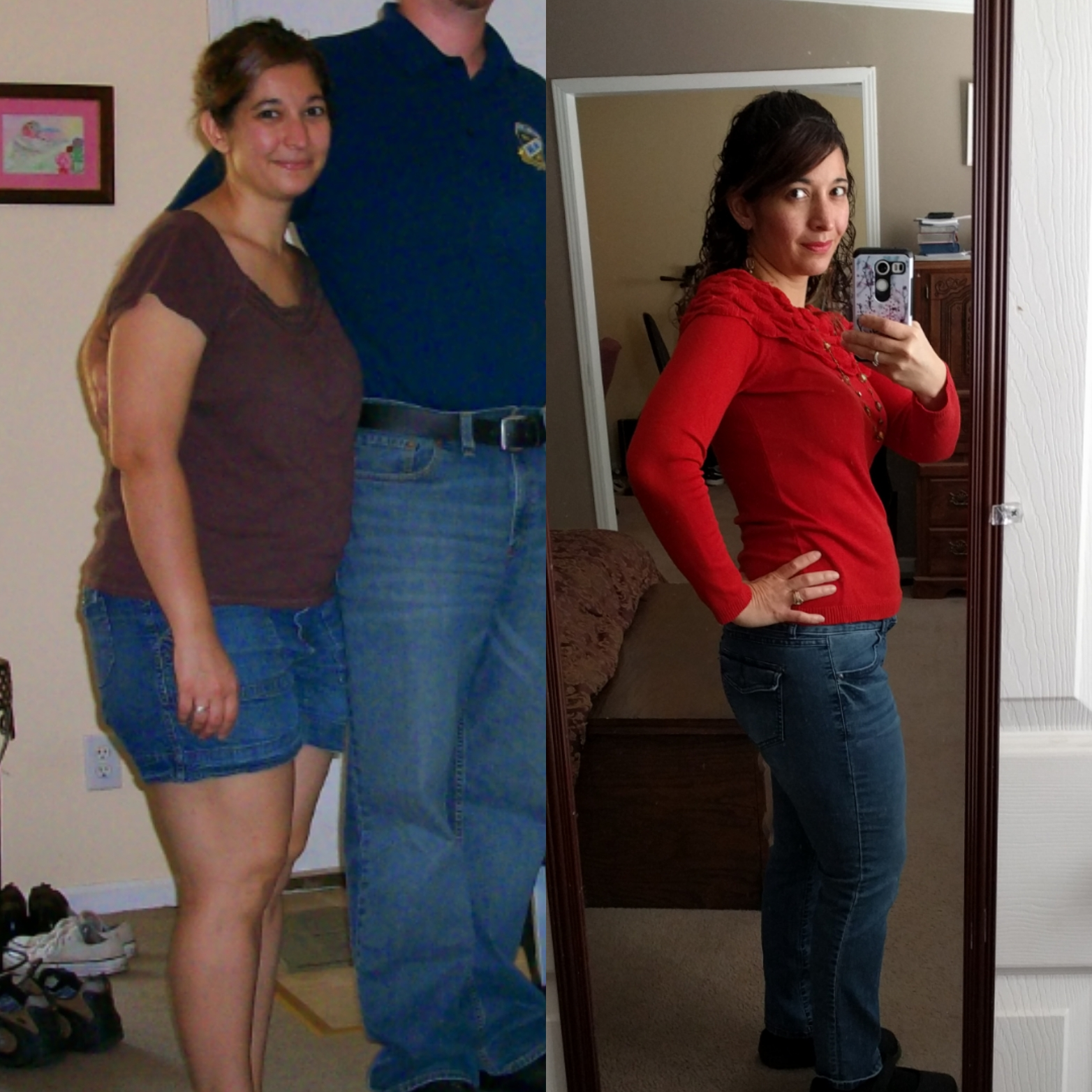 I used to weigh 175 pounds, but then I've lost 40 pounds over the last 4 years.