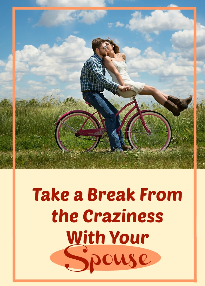 Instead of allowing yourselves to get so wrapped up in everything, find small ways to take a break from the things that stresses you. Doing this as a couple is a great way to keep the connections strong.