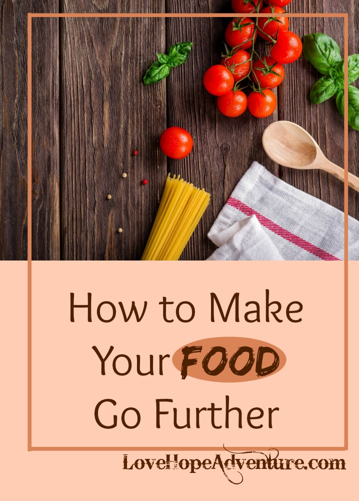 Making food go further is essential for many people. The further you can make your food go, the more meals you can make for less money and the less you will waste. You don't want to end up throwing away food because you don't use it on time or there's only a small amount left.
