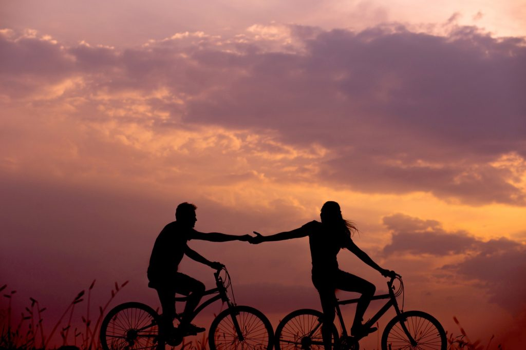 Take time to go cycling with your spouse as a way to connect