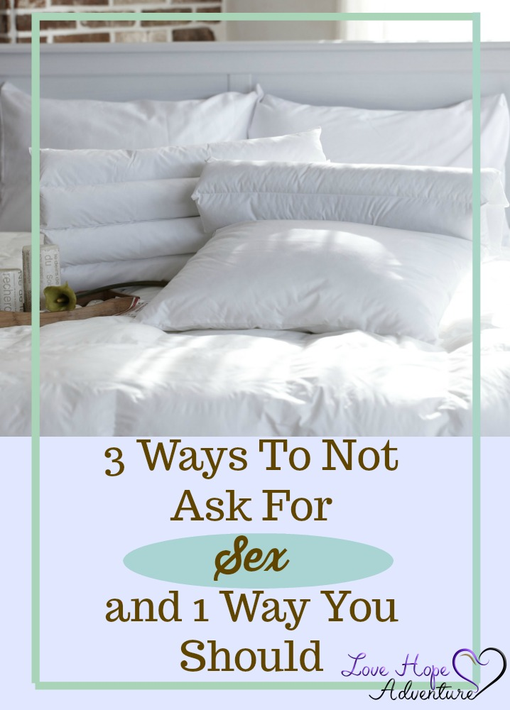 There will be plenty of days when you're in the mood for sex and you want your husband to know it. I've personally tried many things to get my point across and none of them worked. There's only been one thing that has. Here are some ideas to help you efficiently achieve your goal