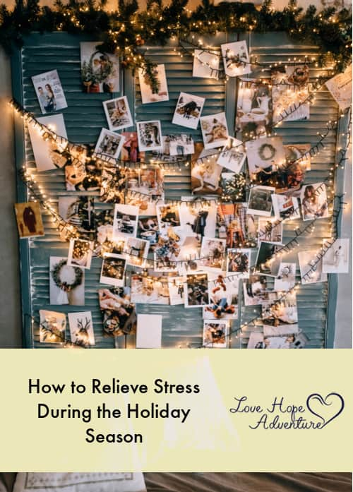 relieving stress during the holidays